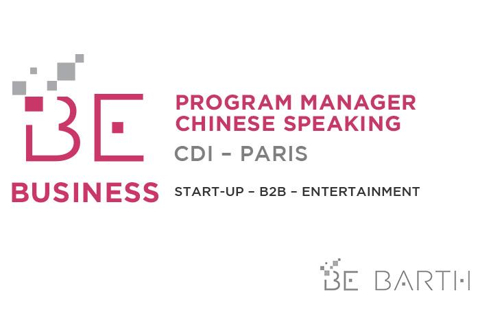 BeBarth - Program Manager - Chinese speaking